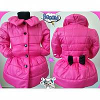 Куртка пальто детское для девочки Бантик детский