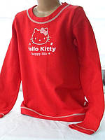 Яркая детская кофточка Hello Kitti красного цвета