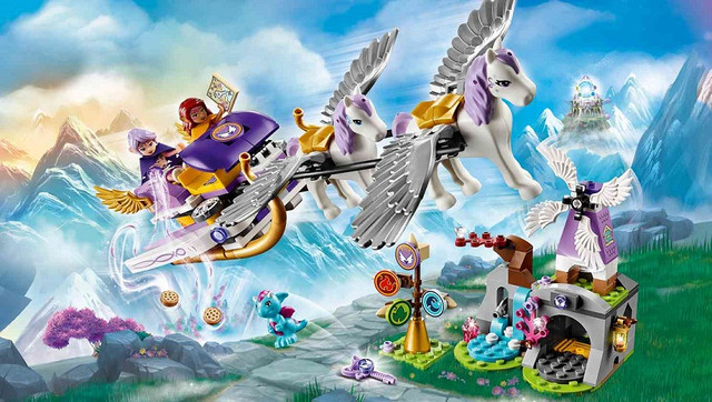 Конструктор дитячий Bela Fairy 10413 Літаючі сани Ейри