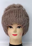 Зимняя женская шапка из натурального меха кролика
