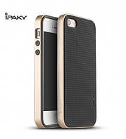 Чехол - бампер iPaky (Original) для Apple iPhone 5/5S/SE - золотой