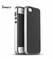 Чехол - бампер iPaky (Original) для Apple iPhone 5/5S/SE - серебряный