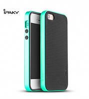 Чехол - бампер iPaky (Original) для Apple iPhone 5/5S/SE - зеленый