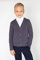 "Детский кардиган ""Модный карапуз"" для мальчика (темно-серый)"
