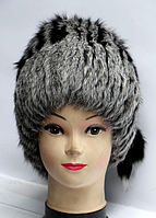 Зимняя женская шапка кубанка (мех кролика)