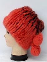 Женская меховая натуральная зимняя шапка