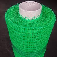 Сетка пластиковая Клевер птичка 1x50 м (12x14 мм) зеленая