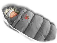 Конверт-пуховик Ontario Baby Inflated (дутик 50х90) Зима серый