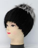 Зимняя женская шапка из натурального меха лисицы