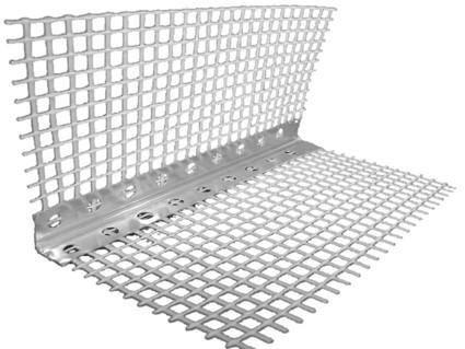 Уголок перфорированный с сеткой (алюминий) 3м