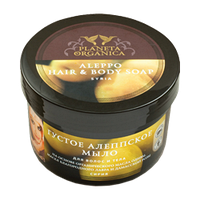 Густое алеппское мыло для волос и тела Planeta Organica,450 мл.