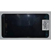 Дисплей для мобильного телефона HTC One M7 Dual Sim 802w , черный, с сенсорным экраном, с передней панелью