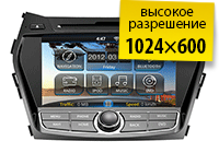 Штатная магнитола для Hyundai Santa Fe 2013+: Андроид