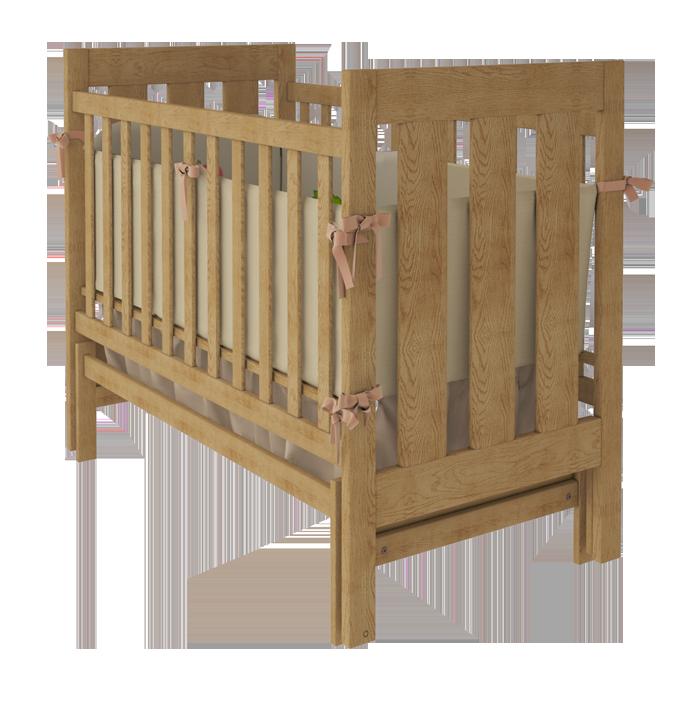 Дитяче ліжечко Woodman Oscar натуральне.