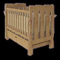 Дитяче ліжечко Woodman Oscar натуральне з шухлядою.