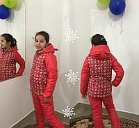 Детский теплый зимний костюм Мини-Микки\ красный