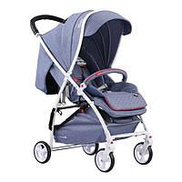 Детская прогулочная коляска Quatro Lion Jeans (темно-голубая) 11