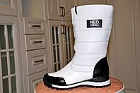 Сапоги женские в стиле Adidas Neo, зимние (натуральная кожа)
