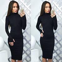 Зимнее платье женское Полли черное , женский одежда