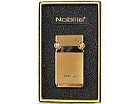 Зажигалка турбо подарочная в коробке Nobilis Gold