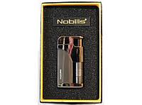 Зажигалка турбо подарочная в коробке Nobilis Black