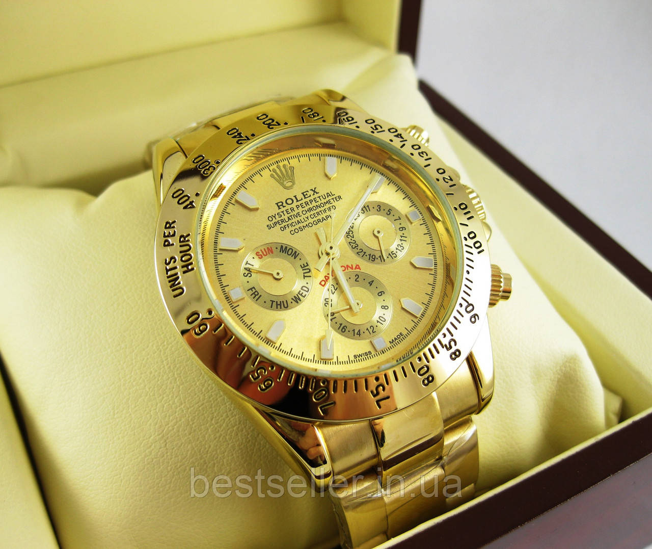 823e7ab67200 Часы Rolex Daytona 40mm All Gold (Механика). Replica  Качественные ...