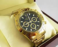 Годинник Rolex Daytona 40mm Gold/Black (Механіка). Replica, фото 1