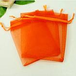 Мешочек из органзы 7х9 см Оранжевыйй яркий, фото 2