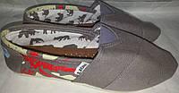 Кеды тапки слипоны p36 и 40 LION сер с красн