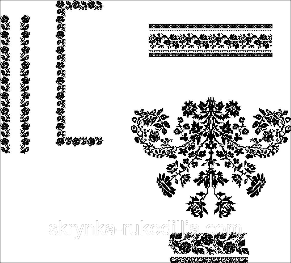 Заготовка для вишивки сорочки БІСЕРОМ (Сокальські мотиви)  продажа ... 53bf68ad37a98