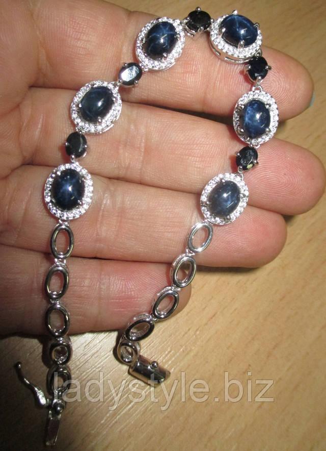 купить украшения серебро сапфир топаз корунд подарок леди стиль юбилей