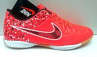 Кроссовки футбольные - футзалки - футбольные бутсы - обувь для мини футбола красные Nike NI0124