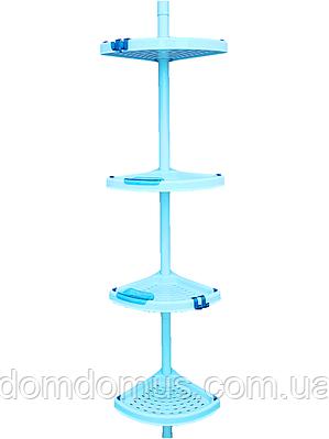 Полка угловая для ванной телескопическая труба PrimaNova, Турция N02-02