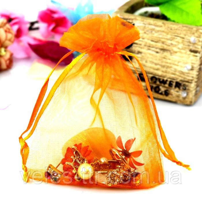 Мешочек из органзы 7х9 см Оранжевыйй яркий