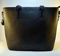 Женская сумка серая матовая из кожзаменителя  H78
