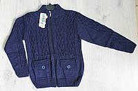 Вязанный свитер для мальчика 9-14 лет