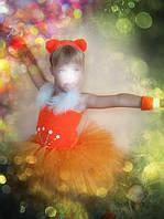 ПРОКАТ новогодний карнавальный костюм Лисичка для девочки