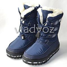 Модные дутики на зиму сапоги темно синий 29р. Jong Golf