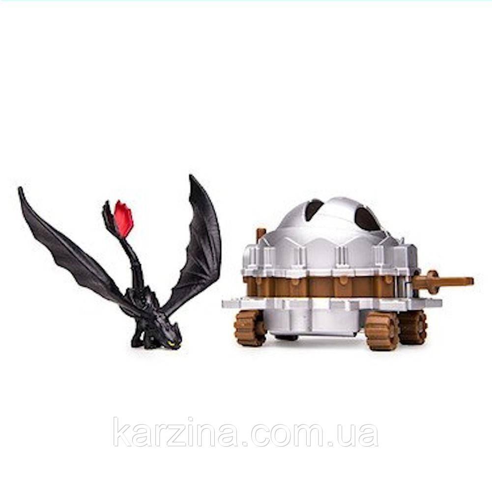 Дракон Ночная Фурия Беззубик маленький с ловушкой
