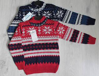 Вязанные теплые свитера для мальчиков