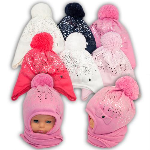 Детский комплект - шапка и шарф для девочки, Grans (Польша), подкладка SOFTI TERM, AM82STM