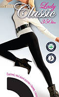 Теплые колготы Lady Classic 350 den 6р черные, фото 1
