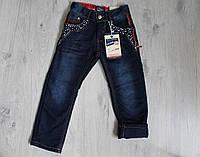 Детские джинсы для мальчика на флисе 4-12 лет