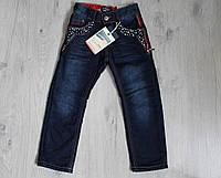 Детские джинсы для мальчика на флисе 12 лет