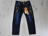 Детские джинсы для девочки на флисе размеры 5-8 лет