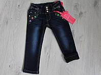 Детские теплые джинсы для девочки на флисе на 3-8 лет