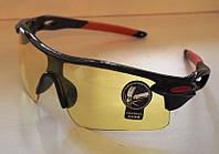 Очки спортивные желтые тактические антифары велосипедные спортивные