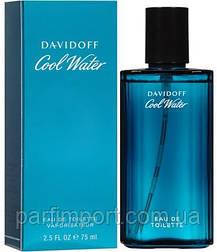 DAVIDOFF COOL WATER MAN edt 75 ml туалетная вода мужская (оригинал подлинник  Франция)