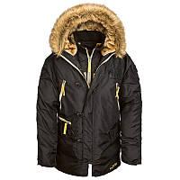 Куртка зимняя мужская Alpha Industries N-3B Inclement Parka Black, фото 1