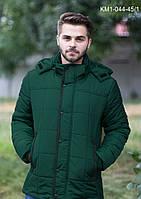 Теплая  мужская  куртка  из  плащевки (зима)